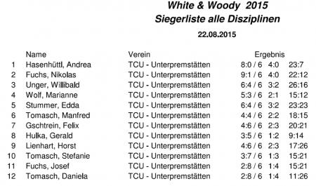 White & Woody Siegerliste